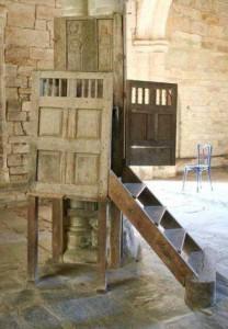 Chaire à prêcher de la chapelle Saint-Jacques de Merléac - état initial