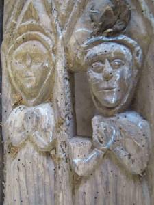 Chaire à prêcher de la chapelle Saint-Jacques de Merléac - détail