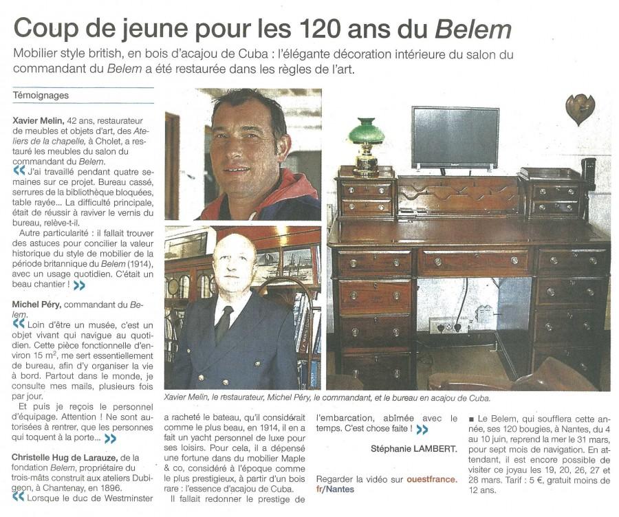 Le Belem Ouest France 16 mars 2016