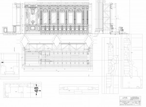 Nevers - Cathédrale St-Cyr et Ste-Julitte - Plan de remontage des stalles