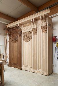 Restauration des stalles de Nevers - Montage à blanc dorsaux