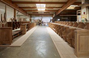Restauration des stalles de Nevers - montage à blanc 1
