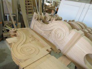 Restauration des stalles de Nevers - fabrication des parcloses