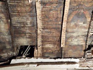 Retiers- Voûte lambrissée, état initial, détail