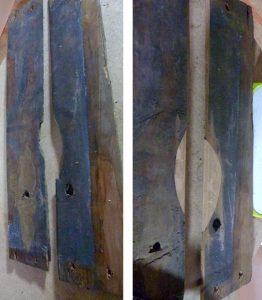 Retiers - Restauration de la voûte lambrissée - avantaprès