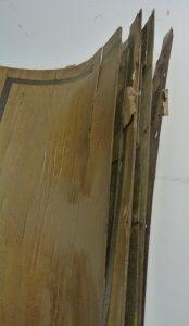 Hotel Follot salon état initial d'un pilastre détail