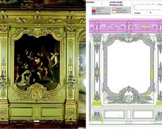 Etude des boiseries de la Galerie Dorée de la Banque de France