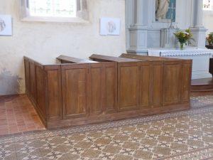 Boissy-en-Drouais restauration des bancs clos 2018
