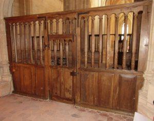 Bourg-en-Bresse clôtures du transept de l'église du monastère royal de Brou 2018