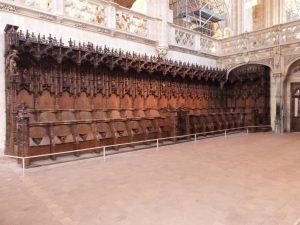 Bourg-en-Bresse stalles de l'église du monastère royal de Brou 2018