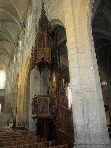 Chaire à prêcher de la cathédrale de Saint-Flour 2018