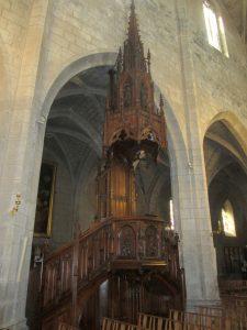 Chaire à prêcher de la cathédrale de Saint-Flour détail 2018