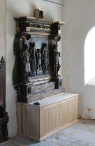 Lanvezeac église Saint-Ezéchiel restauration du retable sud 2018