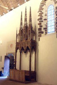 Morogues église Saint-Symphorien restauration du banc d'oeuvre du XVe siècle 2018