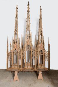 Morogues église Saint-Symphorien restauration du banc d'oeuvre du XVe siècle détail 2018