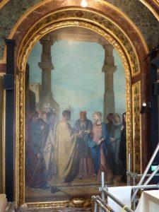 Palais du Luxembourg restauration de guirlandes d'encadrement 2018