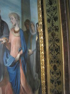 Palais du Luxembourg restauration de guirlandes d'encadrement détail 2018