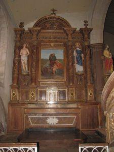 Querrien église Saint-Kérien restauration du retable nord 2018