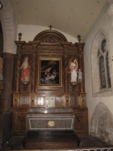 Querrien église Saint-Kérien restauration du retable sud 2018