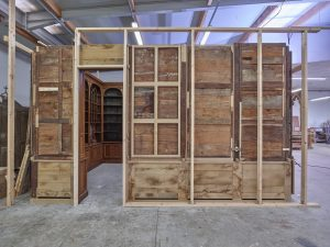 Restauration des boiseries de l'Apothicairerie de Saint Germain en Laye - vue des revers 2018