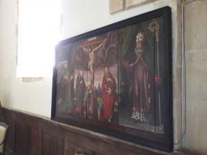 Saint-Paul-le-Gaultier restauration du tableau La Crucifixion 2018