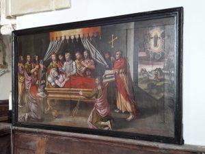 Saint-Paul-le-Gaultier restauration du tableau La Dormition 2018
