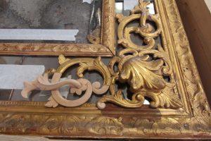 Maison de Louis XIV - Restauration d'un miroir - restitution des lacunes