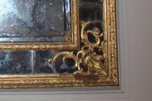 Maison de Louis XIV - Restauration d'un miroir - état initial