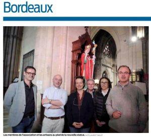ADLC-Statue de Saint-Seurin-Bordeaux- article sud ouest 1