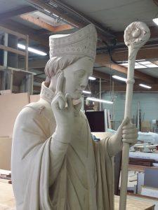 ADLC-Statue de Saint-Seurin-Bordeaux-avant mise en peinture