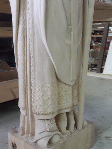 ADLC-Statue de Saint-Seurin-Bordeaux-avant mise en peinture détail 2