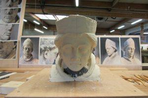 ADLC-Statue de Saint-Seurin-Bordeaux-modelage du visage 2