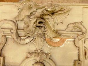 Restauration des décors de la Rotonde Balzac, Paris - Après sculpture - Ateliers de la Chapelle