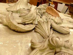Restauration des décors de la Rotonde Balzac, Paris - Détail sculpture©Ateliers de la Chapelle