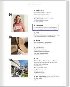 Barnes Magazine - Printemps été 2020 - Sommaire - Ateliers de la Chapelle