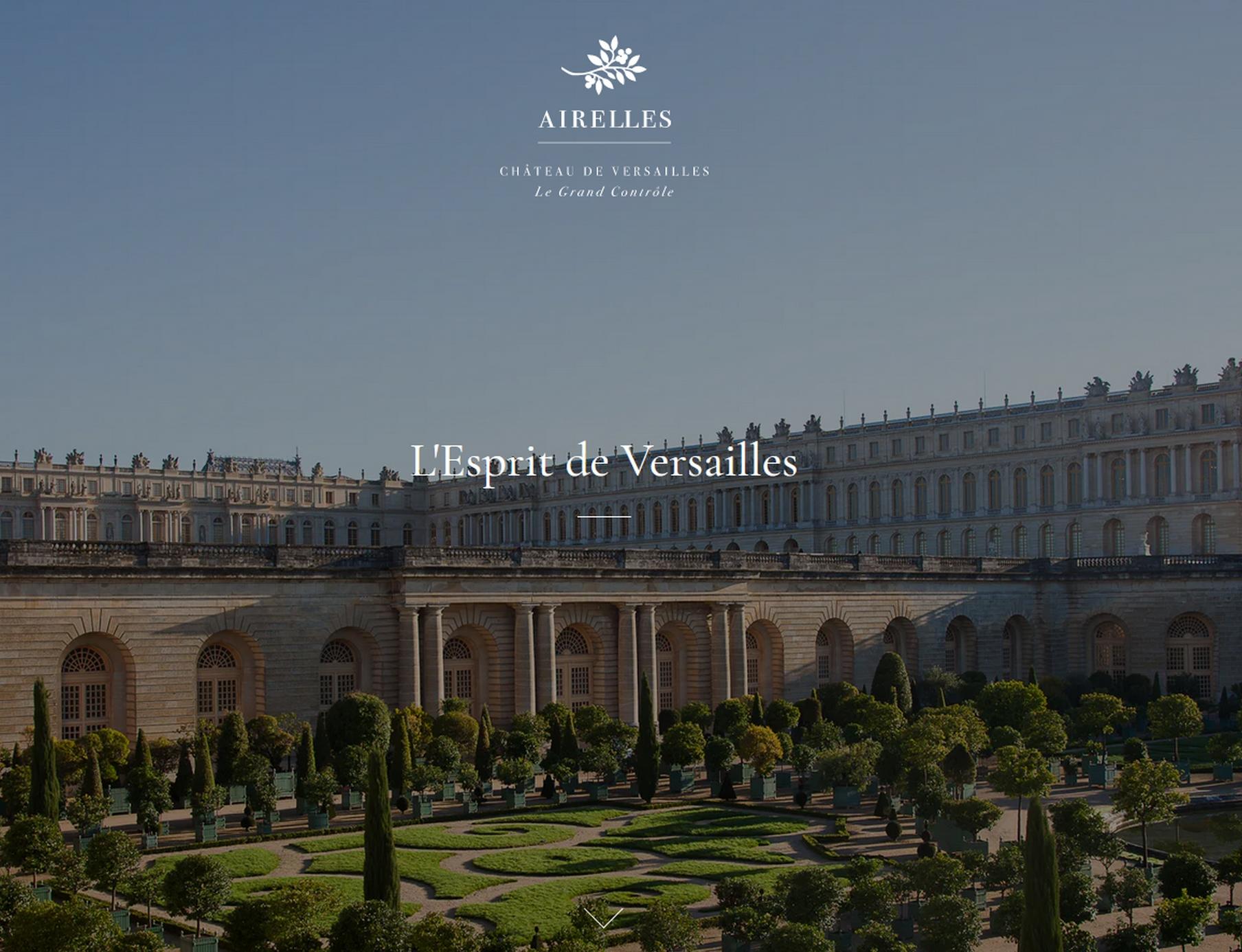 Hôtel Grand Contrôle site Airelles Château de Versailles