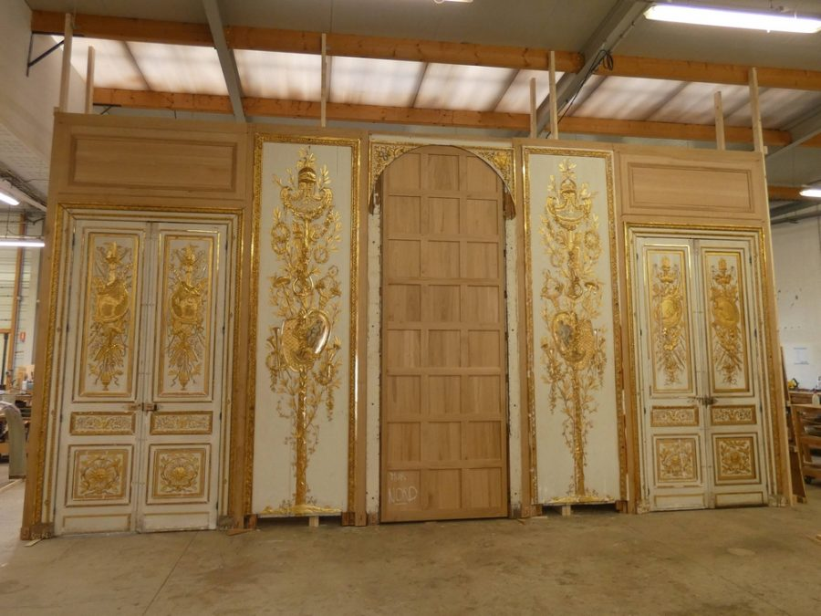 Salon d'Uzès - montage à blanc en atelier Musée Carnavalet -AteliersdelaChapelle